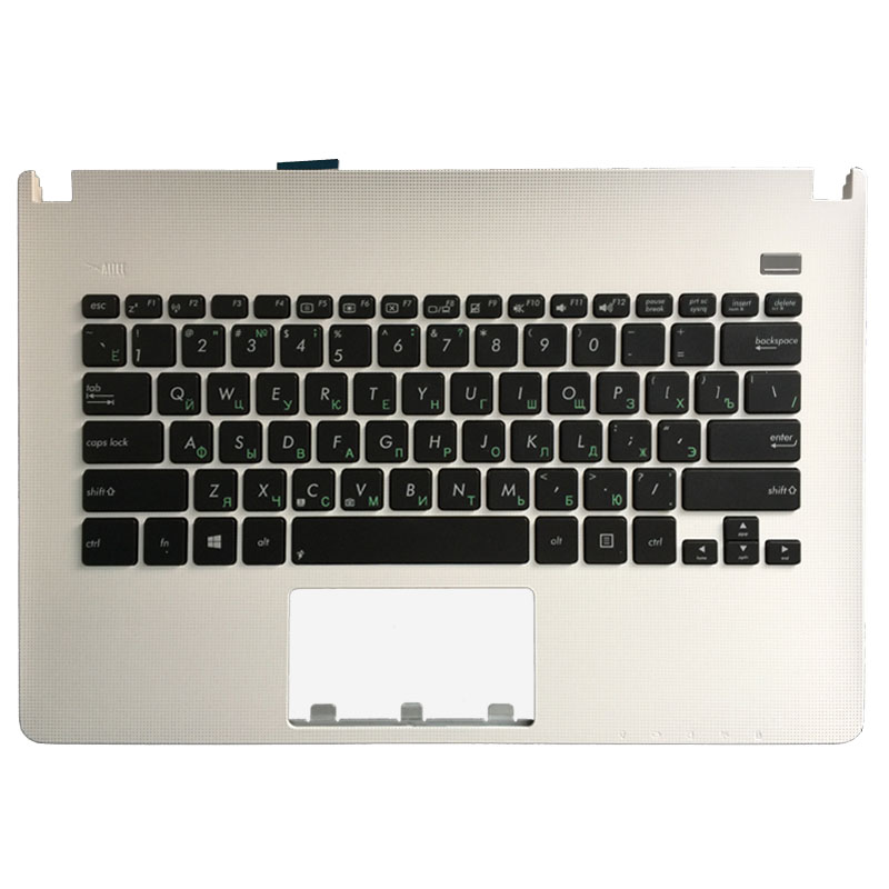 NEW Russian Laptop Keyboard For ASUS X301 X301A X301EI X301EB X301U White With Palmrest Upper Cover