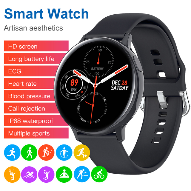 Zurexa S20 Smart Watch Men IP68 Fitness Sports Smartwatch Android ECG PPG Smart Watch Women Waterproof Smart Clock Round 2020 4
