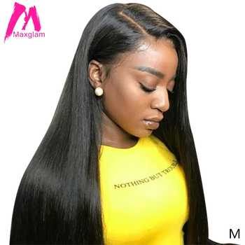 lace front human hair wigs for black women natural straight remy brazilian afro short lace frontal wig pre plucked 30 inch long - DISCOUNT ITEM  49% OFF All Category