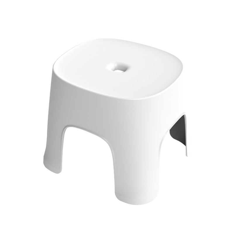 Small Bench Anti-Skid Coffee Table Plastic Simple Stool Adult Thickening Children'S Stool For Shoes Short Stool White