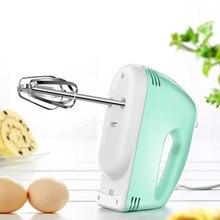 Elektrik 7 hız el yiyecek mikseri yumurta çırpıcı kremalı kek pişirme ev el küçük otomatik hamur karıştırıcı mikser gıda karıştırıcı