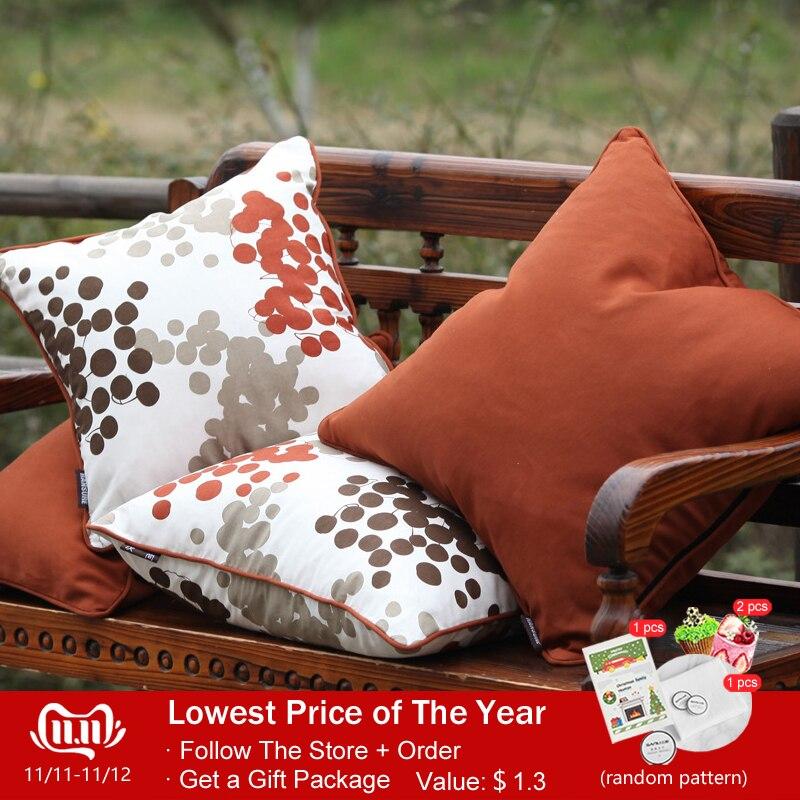 100% cotton colourful point & solid cushion cover 35cm*45cm 45cm*45cm thinking art decor pillow sofa chair car pillowcase