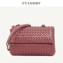 Luxury Brand Women's Shoulder Bag 100% Leather Top