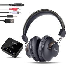 Avantree HT4189 Wireless Headphones for TV Watching with Bluetooth Transmitter (Digital OPTICAL AUX RCA PC USB),Wireless Hearing