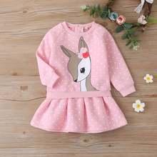 Рождественское детское зимнее платье для девочек одежда розовый