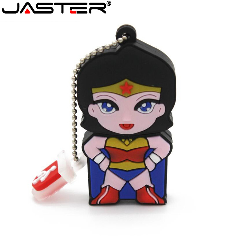 JASTER Super Hero Spider Man Pendrive Cartoon Spiderman Pen Drive 8gb 16gb 32gb 64GB Usb Flash Drive Memory Stick Free Shipping