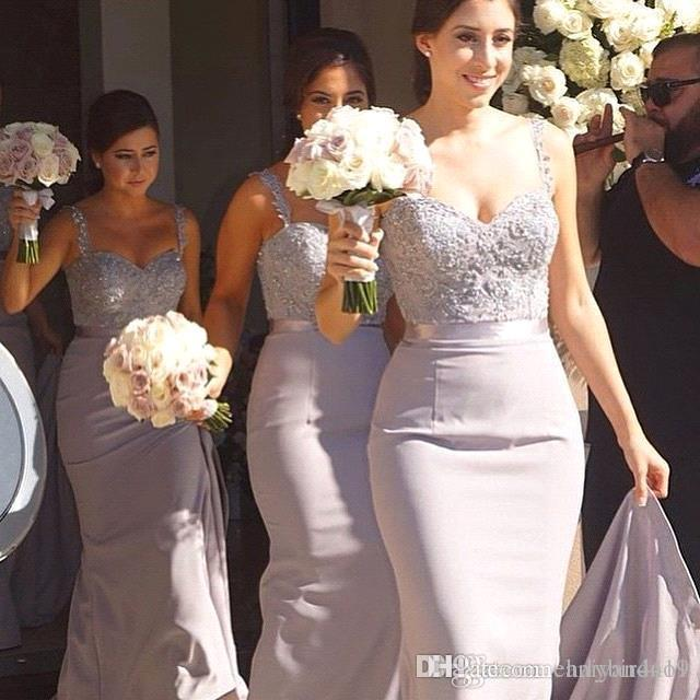 Cheap African Bridesmaid Dresses Spaghetti Straps Lace Appliques Beaded Mermaid Plus Size Maid Of Honor Wedding Guest Dress