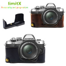 Pu Leather Case Bottom Opening Version Protective Half Body Cover Base For Olympus OMD EM10 OM D E M10 Mark II 2 Camera
