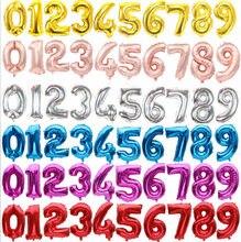 16 Polegada figura número de dígitos balões número da folha balão para decoração de casamento feliz aniversário balão de chá de fraldas