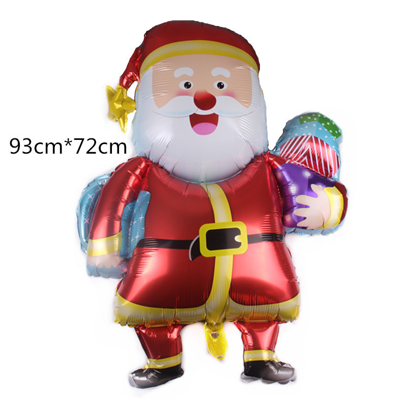 Cartoon Hat Christmas Balloons Santa Claus Foil Balloons Gift Box Christmas Bell Balls Christmas Decorations Xmas Ornament