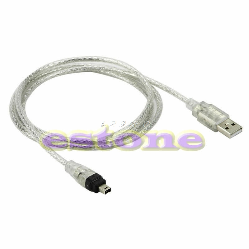 5ft USB To Firewire <font><b>iEEE</b></font> <font><b>1394</b></font> 4 Pin iLink Adapter Cable image