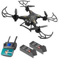 KY601G ABS WIFI Luftaufnahme 4 Kanäle Intelligente Fotografie Drone 4K HD FPV LED Licht Faltbare Dual GPS Fern control