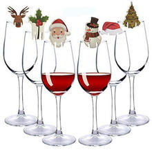 New Fashion 10pcs Christmas Glass Sign Flag Xmas Party Dinner Toothpick Food Decoration Ornaments Hot Sale