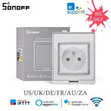 SONOFF – prise de courant intelligente Wifi S55, étanche IP55, contrôle Via l'application Ewelink, fonctionne avec Alexa Google Home IFTTT