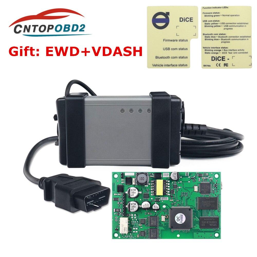 Puce complète pour Volvo OBD2 outil de Diagnostic Vida Dice 2015A 2014D ajouter des voitures à 2019 multi-langue Auto OBDII Scanner EWD cadeau