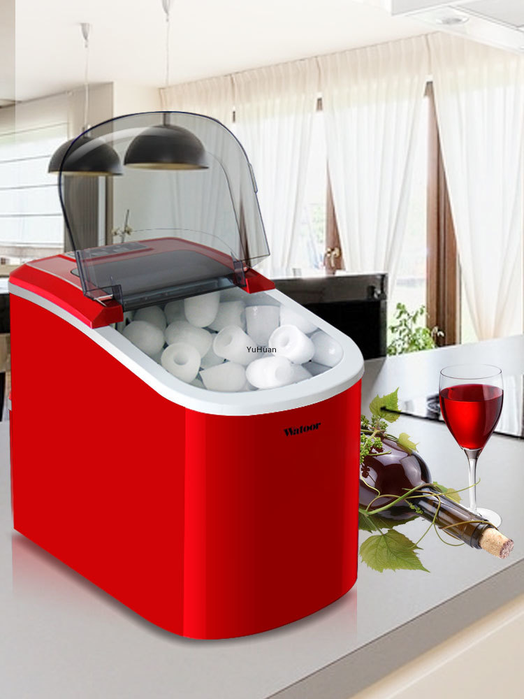 15kg Table Top Manual Ice Making Machine Ice Making Machine Full Automatic Commercial Small Milk Tea Shop  Ice Maker Machine