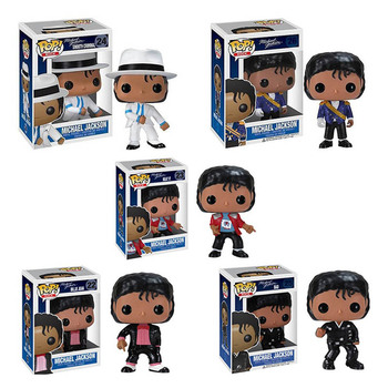FUNKO POP Michael Jackson Beat It Action Figure Toys 10CM PVC Collectable Model for Kids Chritsmas Birthday Gifts 1