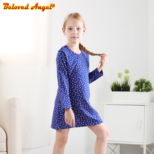 2020 Autumn Winter Long Sleeve Dresses For Girls Child Toddler Baby Tops Tees Children Kids Fall Clothing 3-8T