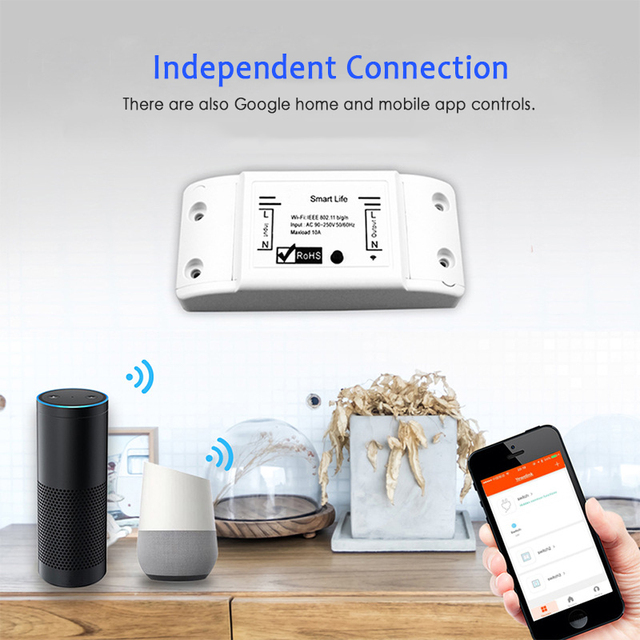 New Smart Light Switch DIY WiFi Breaker Timer Tuya / Smart Life APP Wireless Remote Control Work with Alexa Amazon Google Home 2