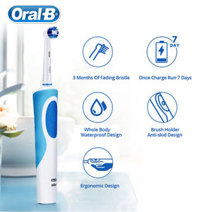 Image 4 - Oral B Electric Toothbrush 2D Clean Rotating Toothbrush Rechargeable Toothbrush Teeth Dual Clean Brush Heads