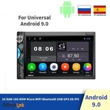 7 player player hd rádio android multimídia player de vídeo 2din tela sensível ao toque rádio do carro bluetooth gps com jogador mp5 1g 16g 2din rádio do carro