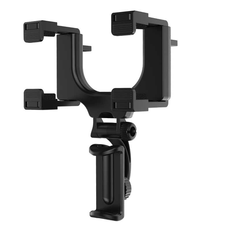 Fimilef Kaca Spion Mobil Ponsel Pemegang Adjustable Phone Stand Hitam Smartphone Car Holder untuk Ponsel Aksesoris