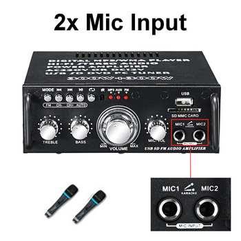 Усилитель мощности SUNBUCK AV-263BT, 2*300 Вт, AUX, USB, AMP, FM 5