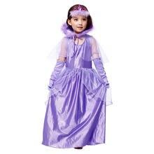 Детское платье фиолетового цвета в стиле знатной принцессы костюм