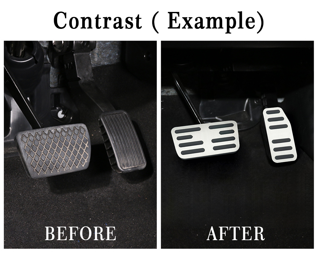 For Honda GIENIA stainless steel pedal cover set car rest pedal cover car pedals non slip performance gas fuel pedal pad plate in Pedals from Automobiles Motorcycles