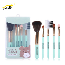 Get more info on the YALIAO 5pcs Blue Box Makeup Brushes Set Powder Foundation Eye Blush Brush Professional Cosmetic Brushes For Woman Beauty