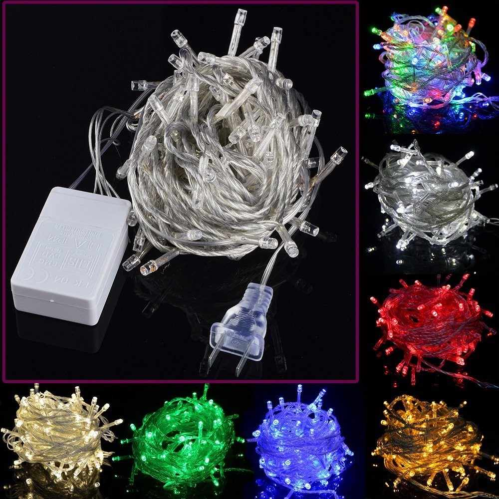 LED Christmas Outdoor String Lights Garland 20M Waterproof Fairy Light Wedding Party X-mas Tree Holiday Light