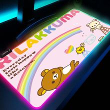 Коврики для мыши rilakkuma милый коврик игровой xxl со светодиодной