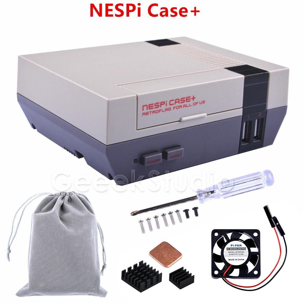 2 3 fits nespi snespi Acrylic Case Support New Fan for Raspberry Pi Model B