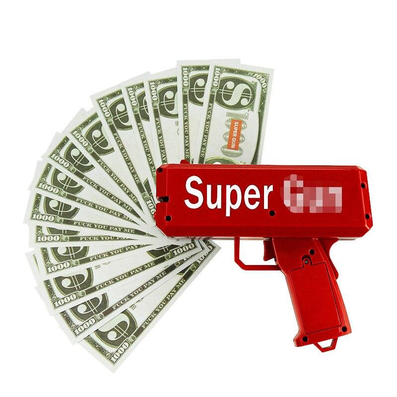 TUKATO сделать это дождь деньги, хаки, красный, денежный пушки супер пистолет игрушки 100 шт. купюр Вечерние игры для активного отдыха Мода подар...