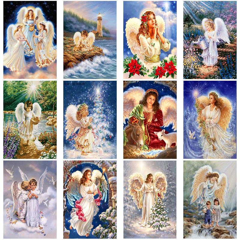 Diy 5d diamond painting angel embroidery mosaic cross stitch