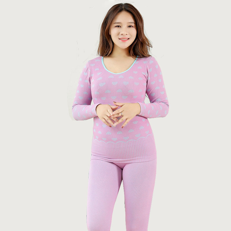 2019 Plus Size Women Thermal Underwears Set Tops Pants Elastic Spring Ladies Soft Stretch Long Johns Thermal Clothing Suit