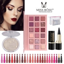 Makeup Set Makeup Kit Nude Eye Shadow Palette Professional Makeup Suitcase Makeup For Women Lipstick 25 Color Missrose Eyeliner цены онлайн