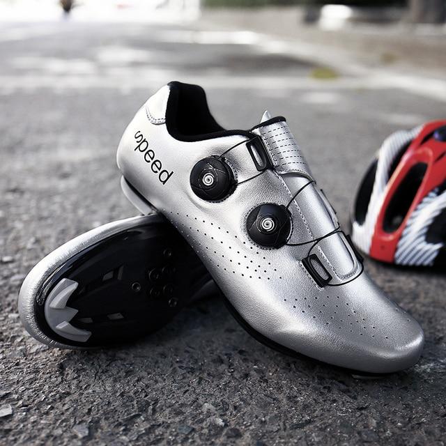 2020 nova estrada borracha-sola sapatos de ciclismo ultra-leve antiderrapante profissional auto-bloqueio sapatos esportes ao ar livre efeito fluorescente 4