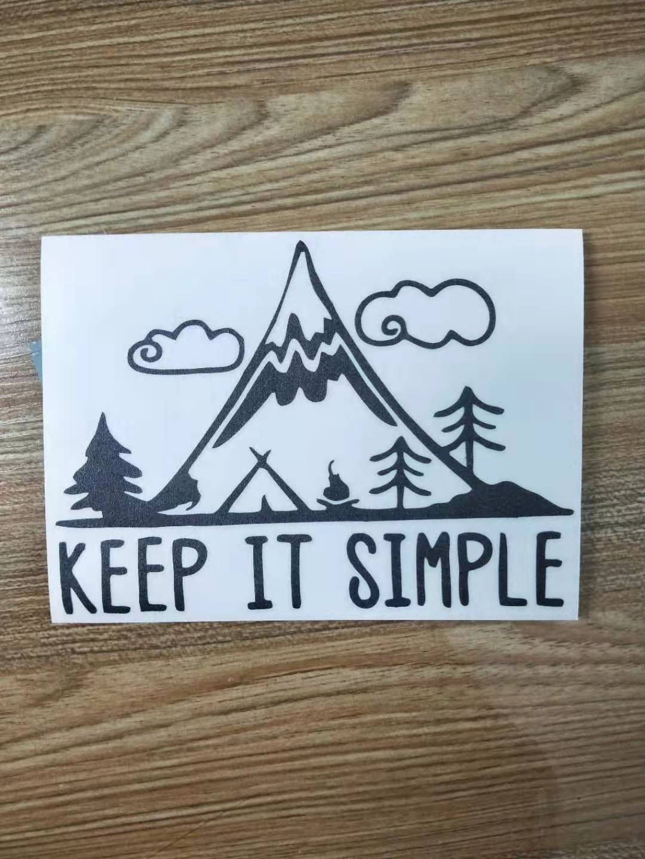 Купить с кэшбэком Keep It Simple Mountains Vinyl Pine Tree travel Mountains Laptop Car Sticker