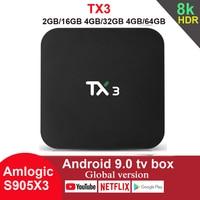 TX3 Android 9.0 TV Box Amlogic S905X3 4GB 64GB 8K 5G Wifi BT Youtube HDR Google Play Netfilx Set Top Box