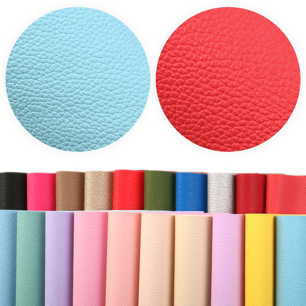 20*33cm Plain Color Lychee Grain Leather Fabric Faux Leather For Handbag Wallet Earrings Making,1Yc9050