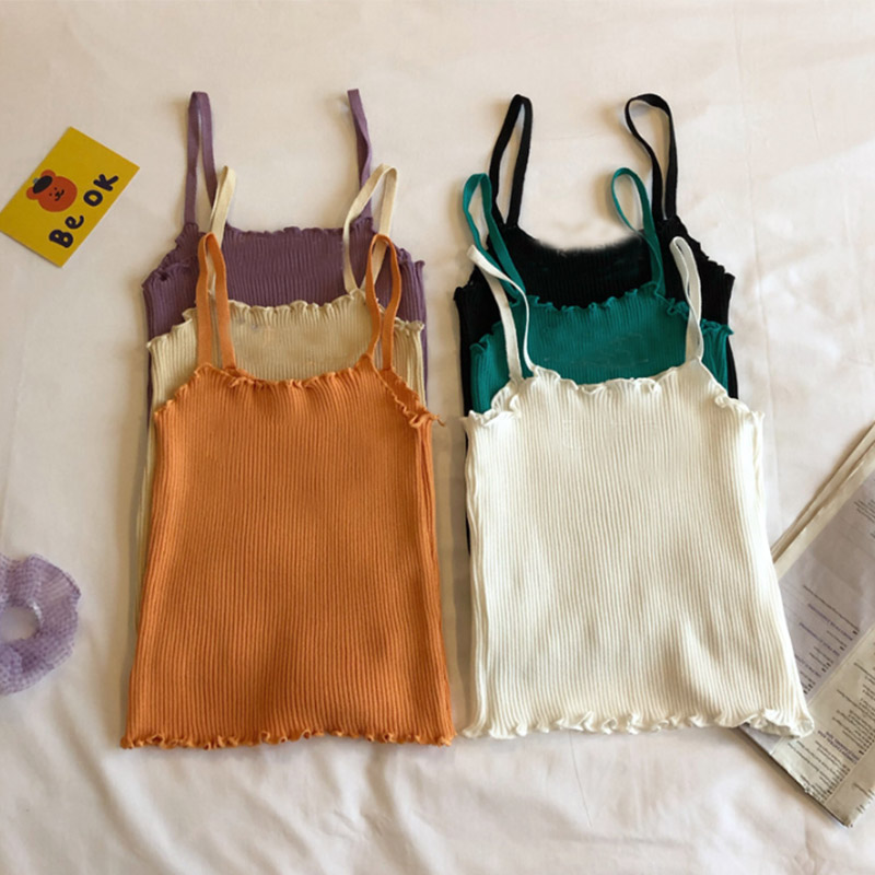 Summer Boys And Girls Children 12y 14y Tank Tops Teens Underwear Clothes  Knitted Vest Camis Sexy Solid Bottoming Shirt - Best Offer #580714 | Cicig