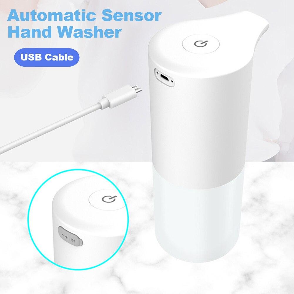 2021 Новый Автоматический дозатор мыла зарядка через USB индукция инфракрасного света Сенсор для мытья рук, для дезинфекции рук, для Кухня Аксе...