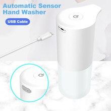 Distributeur automatique de savon à capteur d'induction infrarouge, recharge USB, lave-mains, désinfectant pour les mains, accessoires de cuisine et de salle de bains, nouveauté 2021