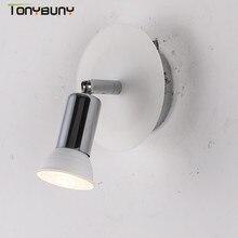 Wall-Lamp Makeup-Mirror-Light Bedside Bedroom Adjustable Modern Ce Iron GU10 for Steering-Head