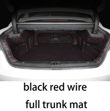 lsrtw2017 fiber leather car trunk mat for geely emgrand gt 2014 2015 2016 2017 2018 2019 цена