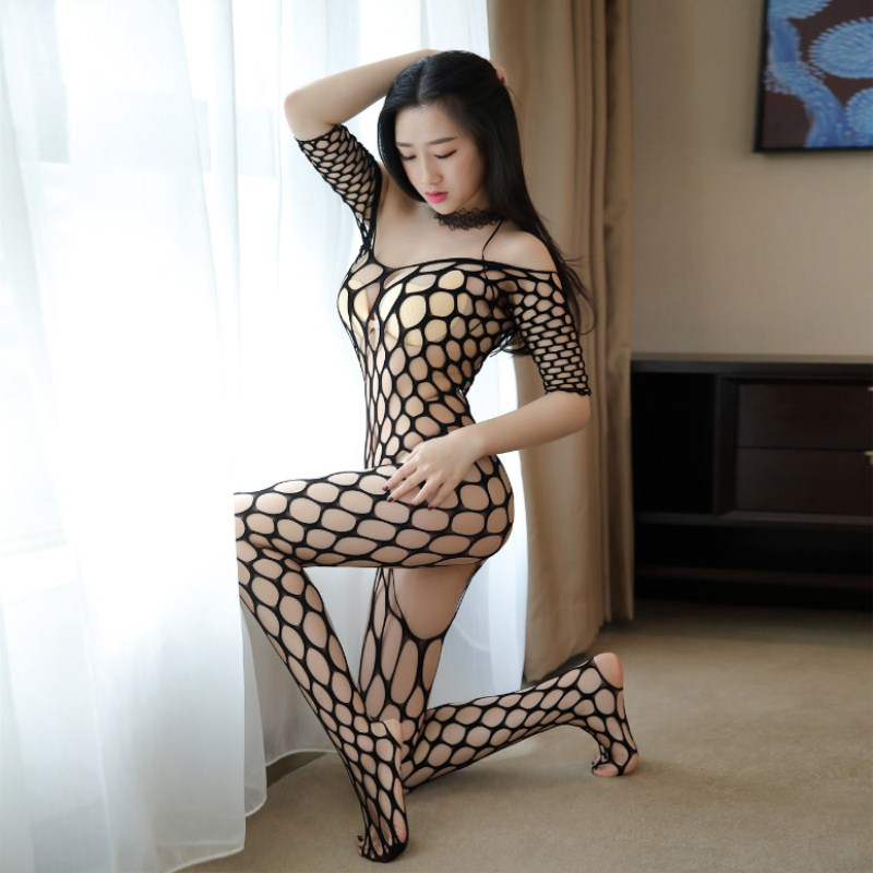 Women Transparent Large Mesh Erotic Underwear Plus Size Nightwear Porn Babydoll Fishnet Sexy Lingerie Sexy Costumes Sex Products