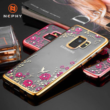 Bling Diamond Rhinestone Lembut Case Telepon untuk Samsung S6 S7 S8 S9 S10 Plus Note 8 9 10 Pro A10 a20E A30 A40 A50 A60 A70 A80 Cover(China)