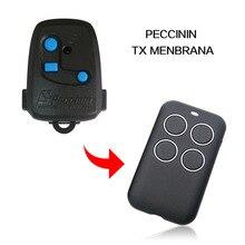 PECCININ جهاز تحكم عن بعد TX MENBRANA ، باب مرآب ، نسخة متوافقة ، 433 ميجا هرتز ، 868 ميجا هرتز ، جهاز تحكم عن بعد