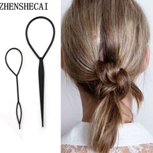 2019 Hair styling magic artifact use hair sticks Multi-function hair styling tools for women girls boys DIY pull pins jewelry(China)